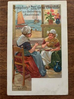 C 1910 Bendorp's Cocoa Chocolate confectionary Melbourne advertising postcard