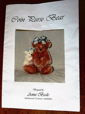 Coin Purse Bear Pattern By Anne Beale