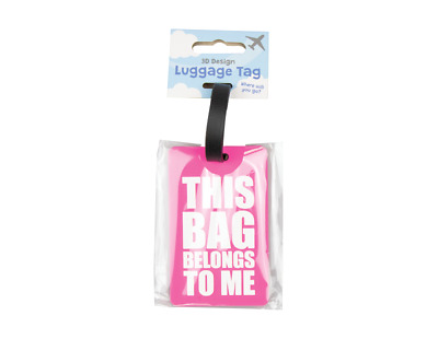 Humorous Slogan Suitcase Tags Luggage Baggage ID Label Holiday Travel Tag Name