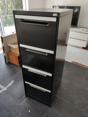 Black 4 drawer Elite  filing cabinet
