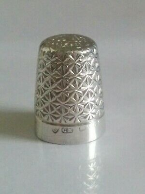 Sterling silver Charles Horner thimble. Chester 1921 CH
