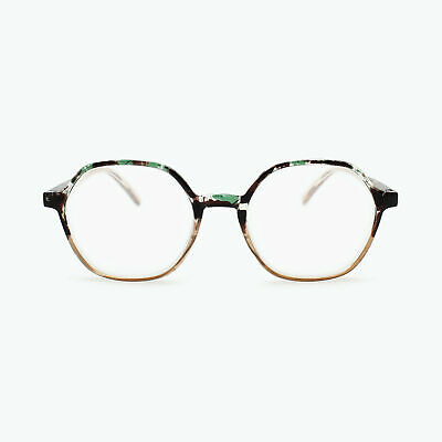 Funky Geometric Hexagon Reading Glasses | Fully Magnified Lenses R-788