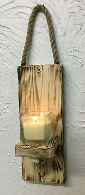 Wall sconce single candle tea light holder rustic chabby chic