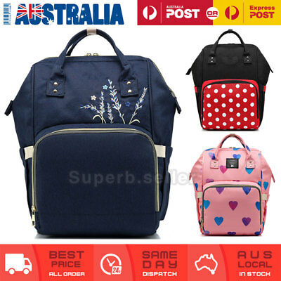 Multifunctional Large Mummy Bag Baby Diaper Nappy Backpack Changing Travel Bag