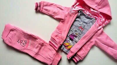 New Baby Girls Warm Outfits Infant Sets Top Hoodie Pants Girls Clothes UK Seller