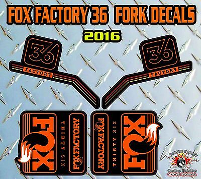 Fox FACTORY Sc 2017 FORK Stickers Decals Graphics Mountain Bike Down Hill MTB