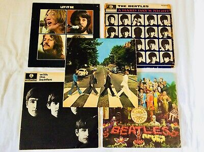 Job lot 5 x The Beatles. Abbey Road, Sgt Peppers etc - 1st Pressings. 1963 - 70.