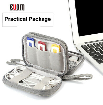 BUBM Waterproof Travel Cable Storage Bag Electronics Organizer USB Charger