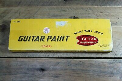 Vintage Guitar Water Colour MFG co Paint Set Unused New Made In Japan