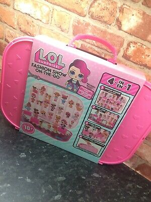 LOL Surprise Fashion Show On-the-Go Storage and Playset - Hot Pink NEW