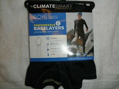 M 8//10 New Boys Size Cuddl Duds Chill Chasers 2 Pc Base Layer Star Wars Blue