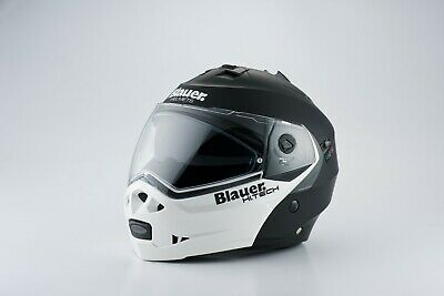 Blauer Sky Matt Black / White Flip-Front Motorcycle Helmet *FREE UK DELIVERY*