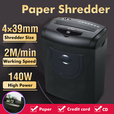 5.5Gallon 8 Sheet Cross Cut Paper Credit Card CD Shredder Dual Cutting Low