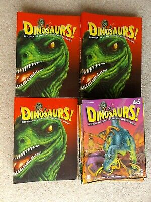 Dinosaurs! Magazine 1 - 65 Childrens Kids Educational Science Folders Boys Girls
