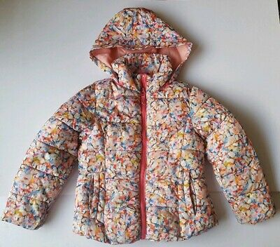 Next Girls Floral Puffer Winter Coat Jacket Age 6 Yrs