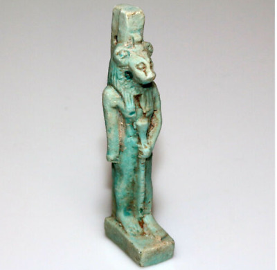 Ancient Egyptian Blue Faience Sekhmet statue Circa. 1900-1000BC