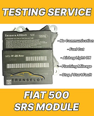 Fiat 500 Airbag Srs Module Testing Service For No Communication Testing Service
