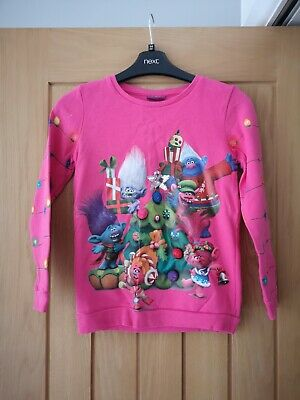 Girls Trolls Christmas Jumper From George Age 8 To 9