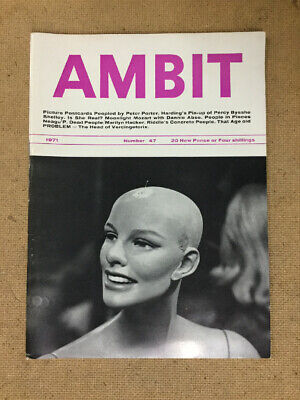 Ambit Magazine. Number 47. 1971. Fast Post Worldwide !