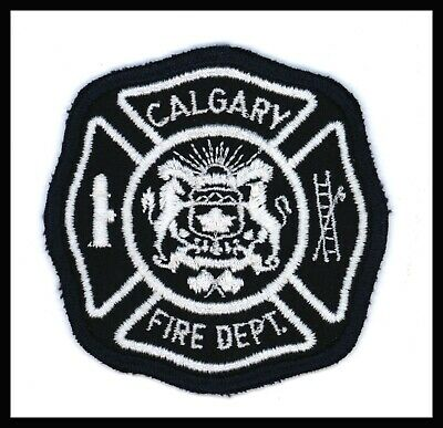 """Calgary Fire Department Alberta Canada 3"""" x 3"""" Embroidered Patch Cheese Cloth"""
