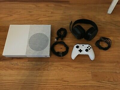 Microsoft Xbox One S 500GB Video Game Console White Controller Astro A10 Headset