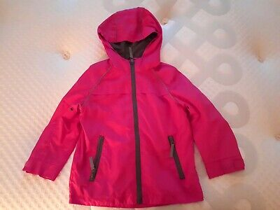 George 3-4 Years Girls Bright Pink Lightweight Coat Mac
