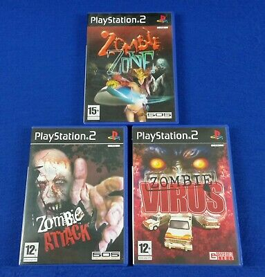 ps2 ZOMBIE x3 Games Zone + Attack + Virus PAL UK EXCLUSIVE RELEASE Survival