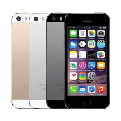 APPLE iPHONE 5S 16GB / 32GB / 64GB - Unlocked - Black / White Smartphone Mobile