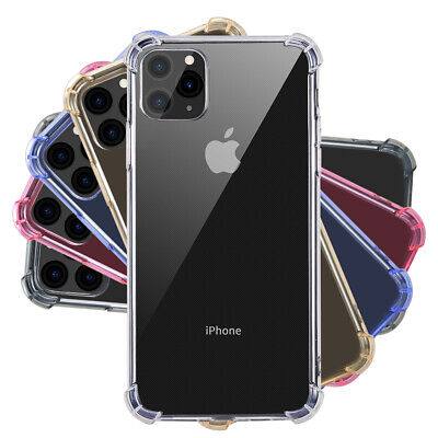Case for iPhone 11 Pro Max ShockProof Transparent Soft Clear Cover TPU Silicone
