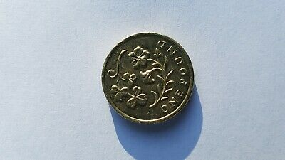 Rare old £1 One Pound Coin Floral Emblems