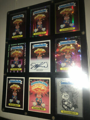 Garbage pail Kids Chrome 8b Blasted Billy Autograph Rainbow Gold Prism Atomic