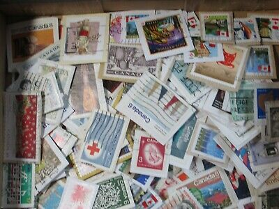 Lot of 500+ Mixed Canada Postage Stamps, Used on paper, random pick