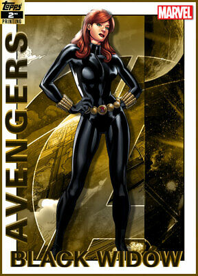 Topps Marvel Collect Black Widow AVENGERS 2019 GOLD 2nd Printing [DIGITAL CARD]