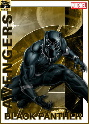 Topps Marvel Collect Black Panther AVENGERS 19 GOLD 2nd Printing [DIGITAL CARD]