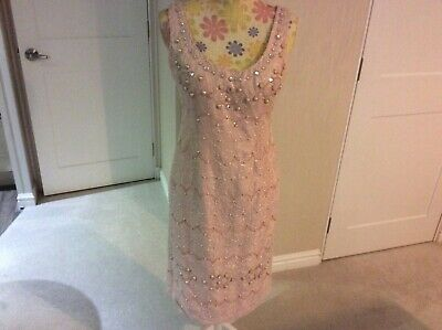 veni infantino size 12 dress pink beaded straight used once excellent condition