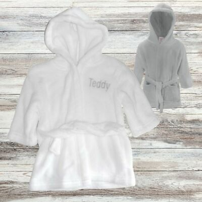Embroidered Personalised Childrens Dressing Gown, Baby Bath Robe
