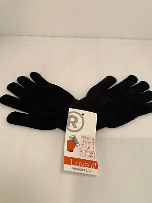 New Radio Shack Whole Hand Touch Screen Gloves Womens Grey M//L Medium Large