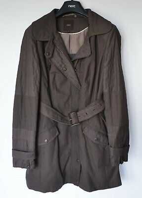 NEXT Brown Belted Parka Style Coat Jacket, Size 14, RRP£70, BNWT