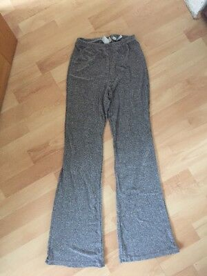 New H&M Girls Grey Age 12-13 Years 158Cm Flared Trousers Flares Bell Bottoms