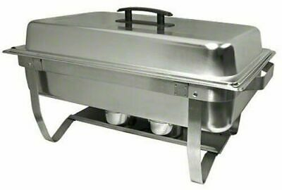 Stainless Steel Easy Store Mirror Polish Chafer Chafing Dish Folding Stand 8 Qt