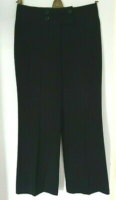 Ladies M&S Black Smart Trousers Size 12 Med Wider Leg BNWOT Marks & Spencer