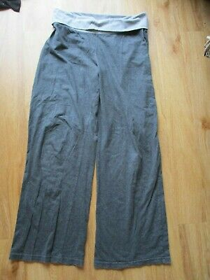 M2B Maternity Grey Over Bump Casual Lounge Gym Trousers Size 10 Short