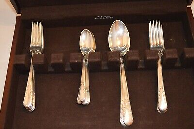 Vintage International Silver Sterling Flatware Orchid 32 pc. Set