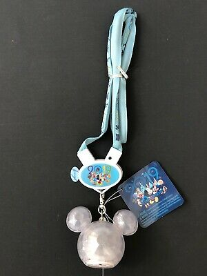 Disney Parks Authentic Mickey Crystal Icon 2019 Light Up Necklace Glow Lanyard