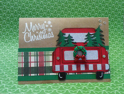 Red Truck Handmade Christmas Greeting Cards