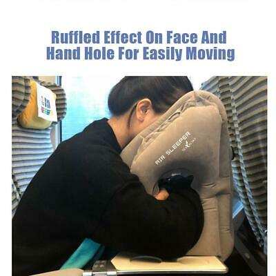 Inflatable Air Travel Pillow Airplane Neck Support Head Cushion Office Nap Rest