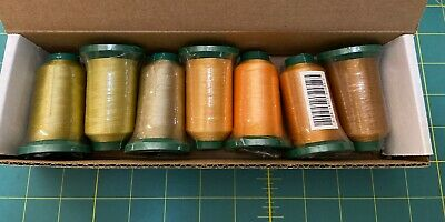 Exquisite Polyester Embroidery Thread NEW GOLD (Seven Spools)