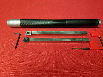 2 Wood Lathe Tool Holder bars w Handle and Carbide Inserts