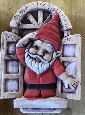 latex mould for making This lovely Santa At Window Plaque