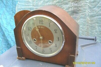 Mantel Clock Bentima  Perivale  Striking  Clock Key And  Pendulum